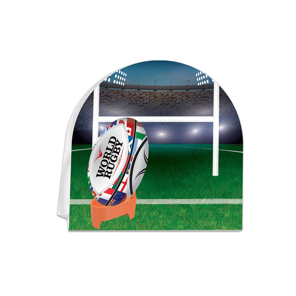 Rugby Ball Table Centrepiece Decoration - 25.4cm