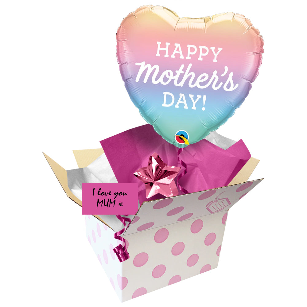 Send a Balloon Pastel Ombre Mother's Day - 18""
