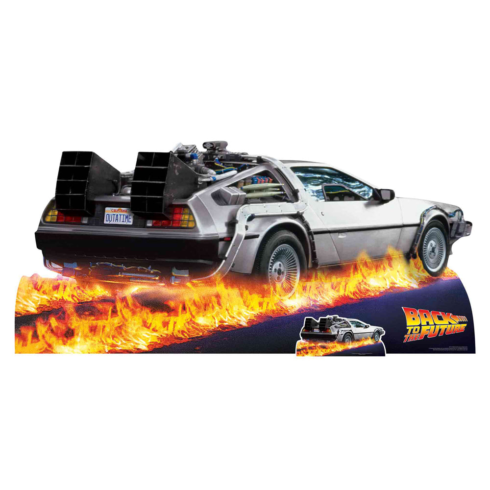 Back to the Future DeLorean 80's Cardboard Cutout Decoration - 1.95m