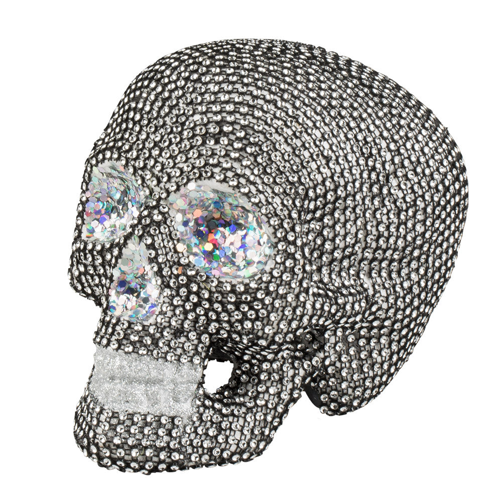 Sparkle Skull Prop Decoration - 15cm x 20cm