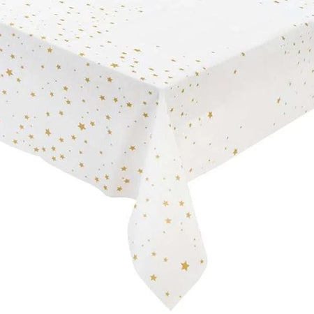 Gold Star Paper Tablecloth - 180cm X 120cm