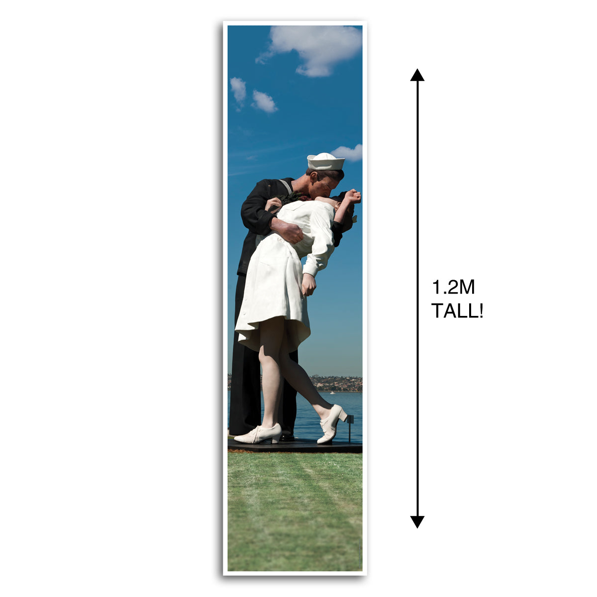 VJ Day Kissing Sailor Times Square Portrait Wall & Door Banner Decoration - 1.2m