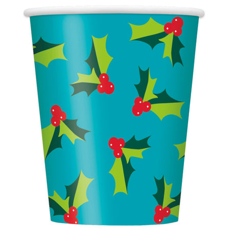 Holly Santa Paper Cups