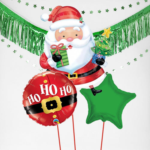 Inflated Christmas Santa Balloon Bundle in a Box