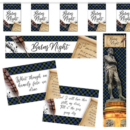 Burns Night Scroll Decoration Pack