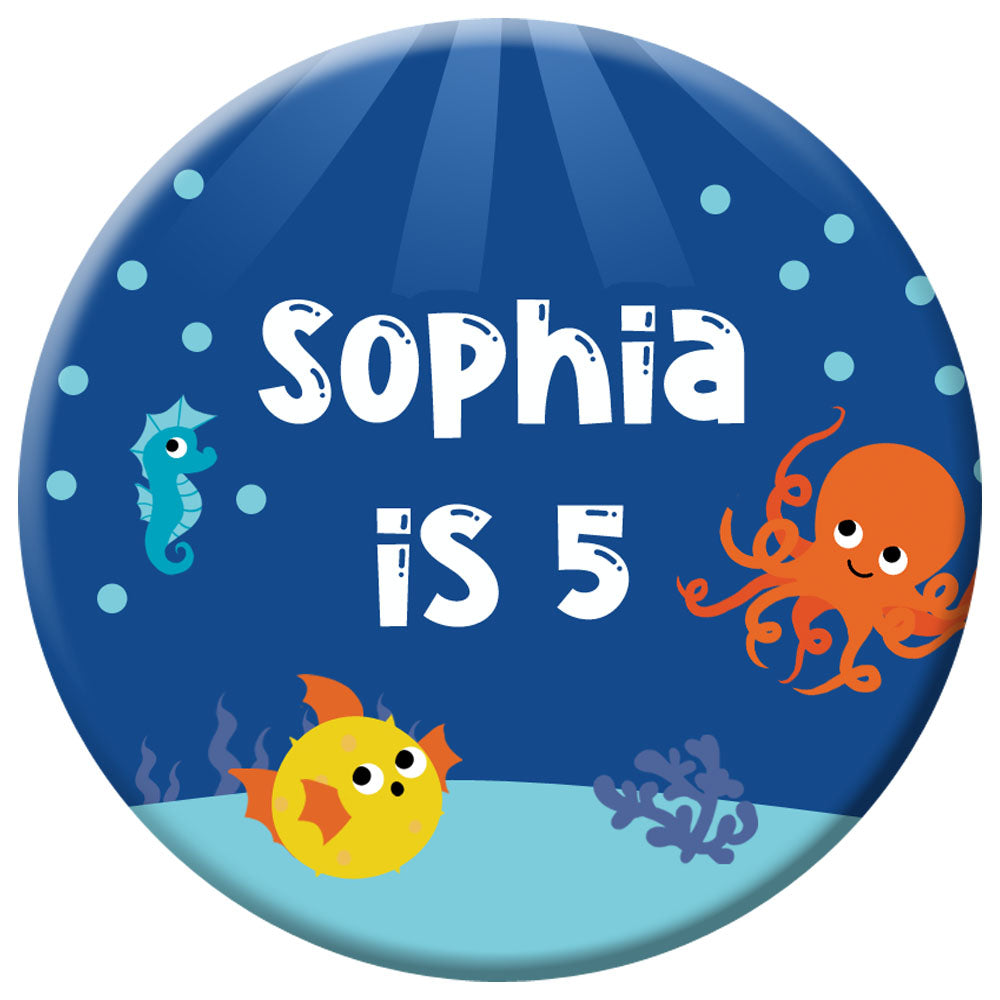 Personalised Sealife Badge - 58mm
