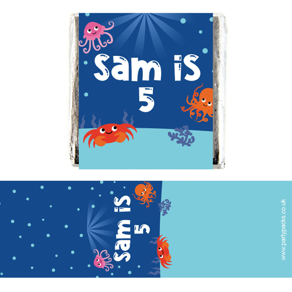 Personalised Chocolates - Sealife - Pack 16