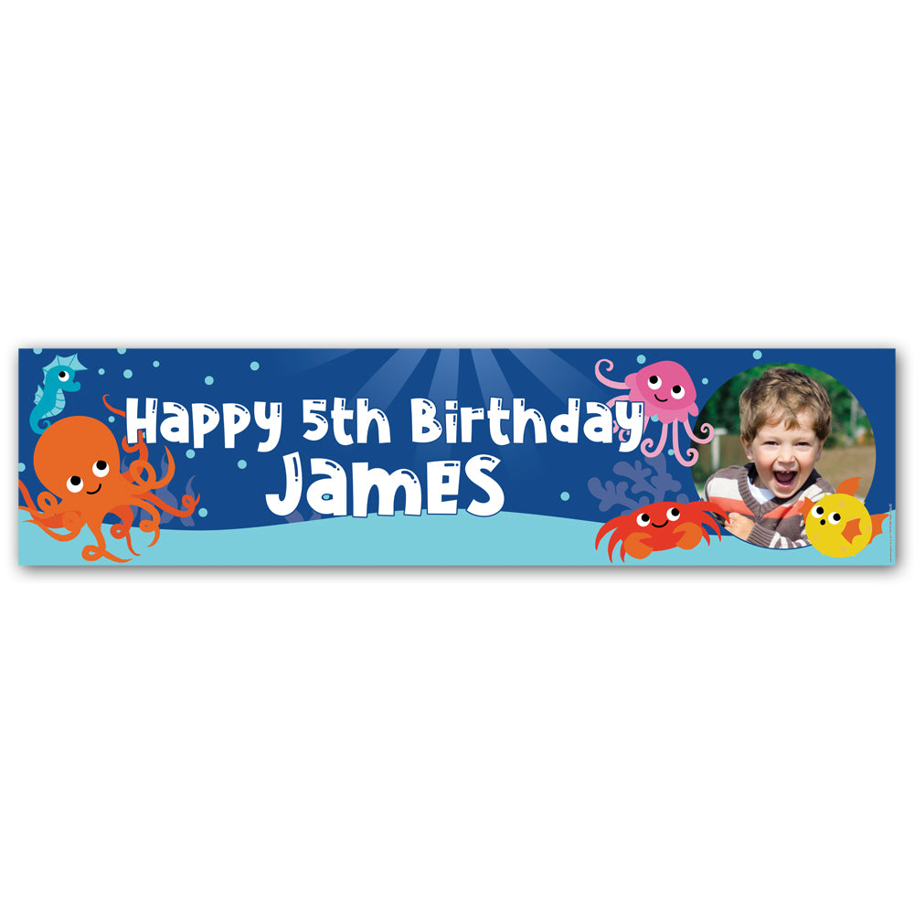 Sealife Personalised Photo Banner Decoration - 1.2m