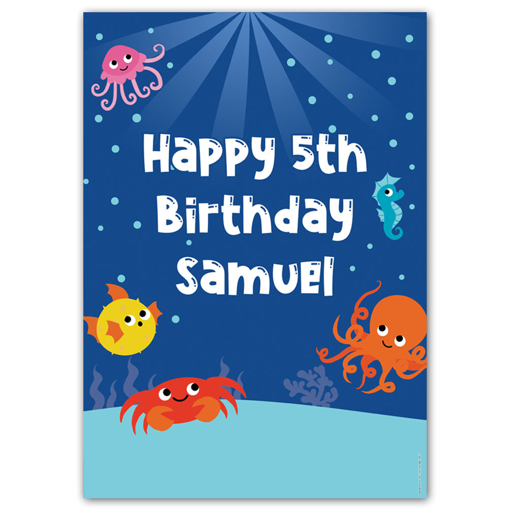 Sealife Personalised Poster - A3