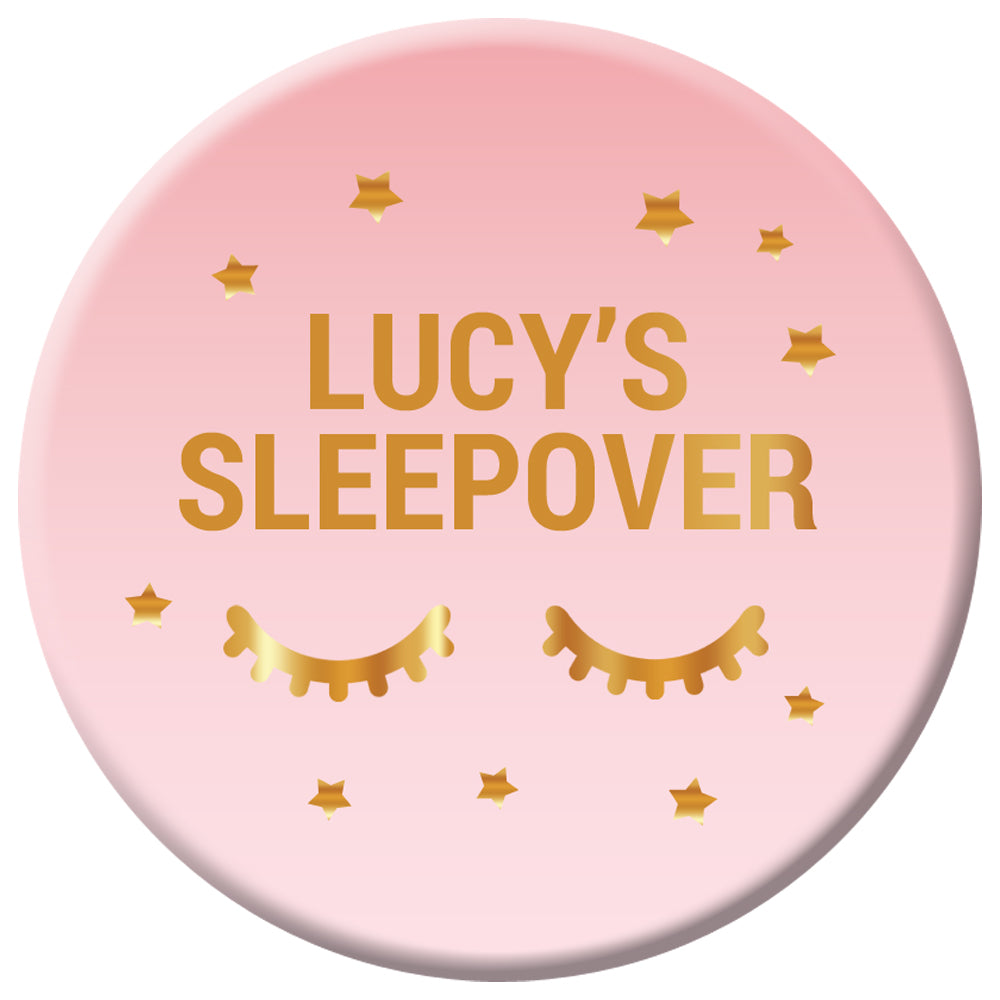 Personalised Sleepover Badge - 58mm