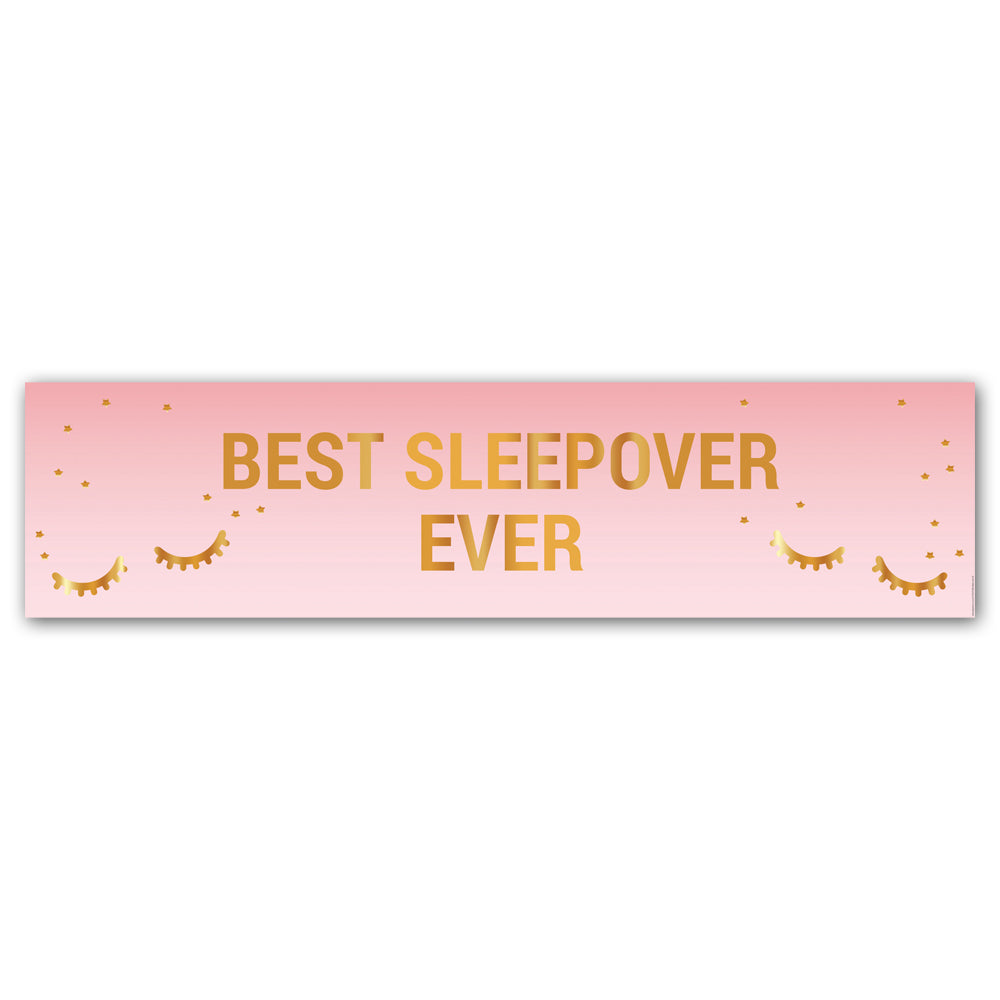 Best Sleepover Ever Banner Decoration - 1.2m