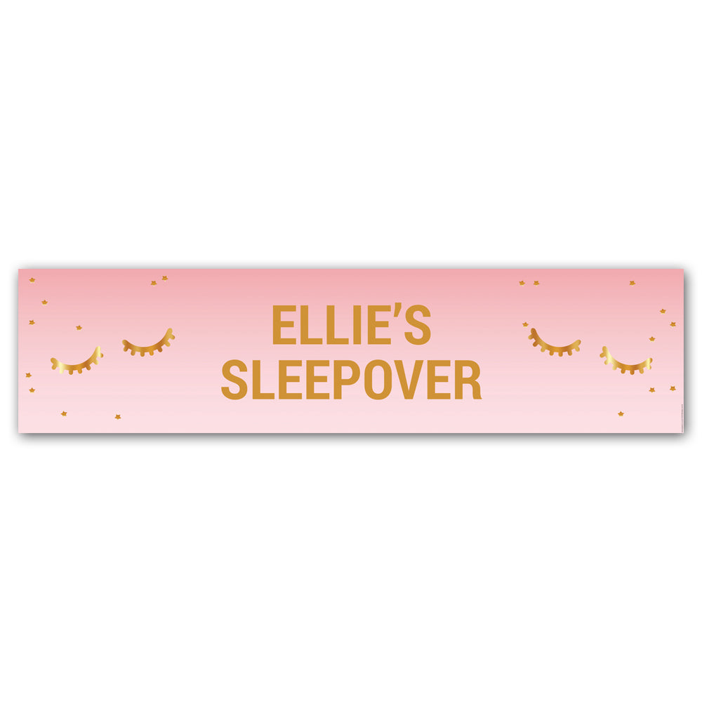 Sleepover Party Personalised Banner - 1.2m