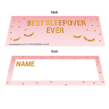 Sleepover Placecards - Pack of 8
