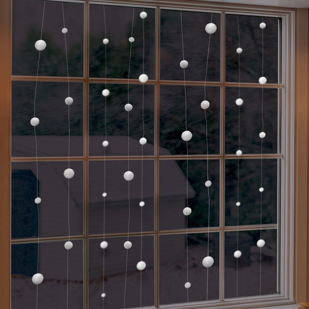 Snowball String Garland Decoration -  12.8m