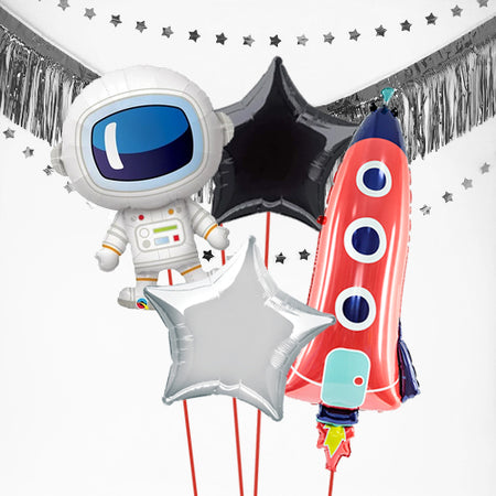 Inflated Outer Space Balloon Bundle in a Box