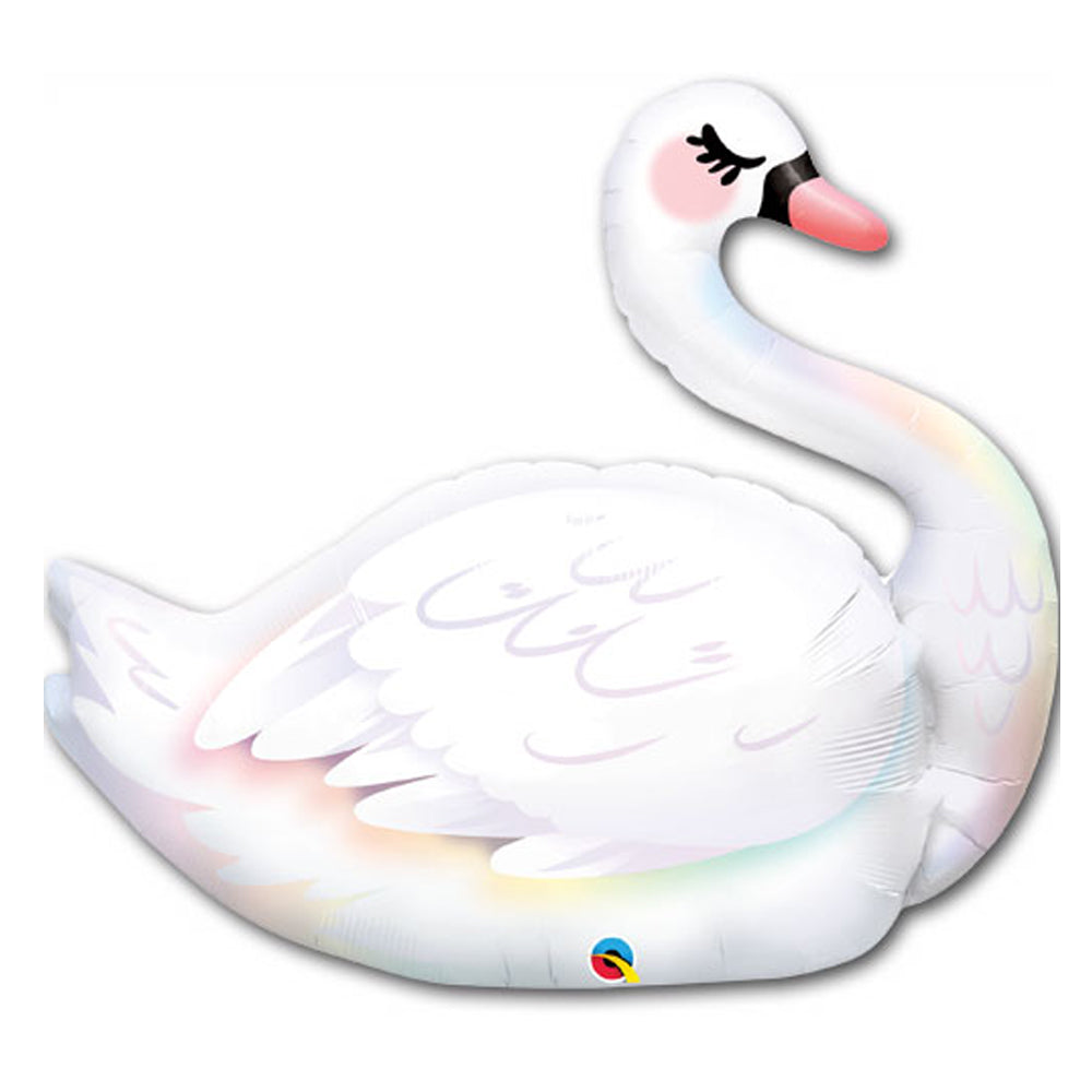 Graceful Swan Foil Balloon - 35""