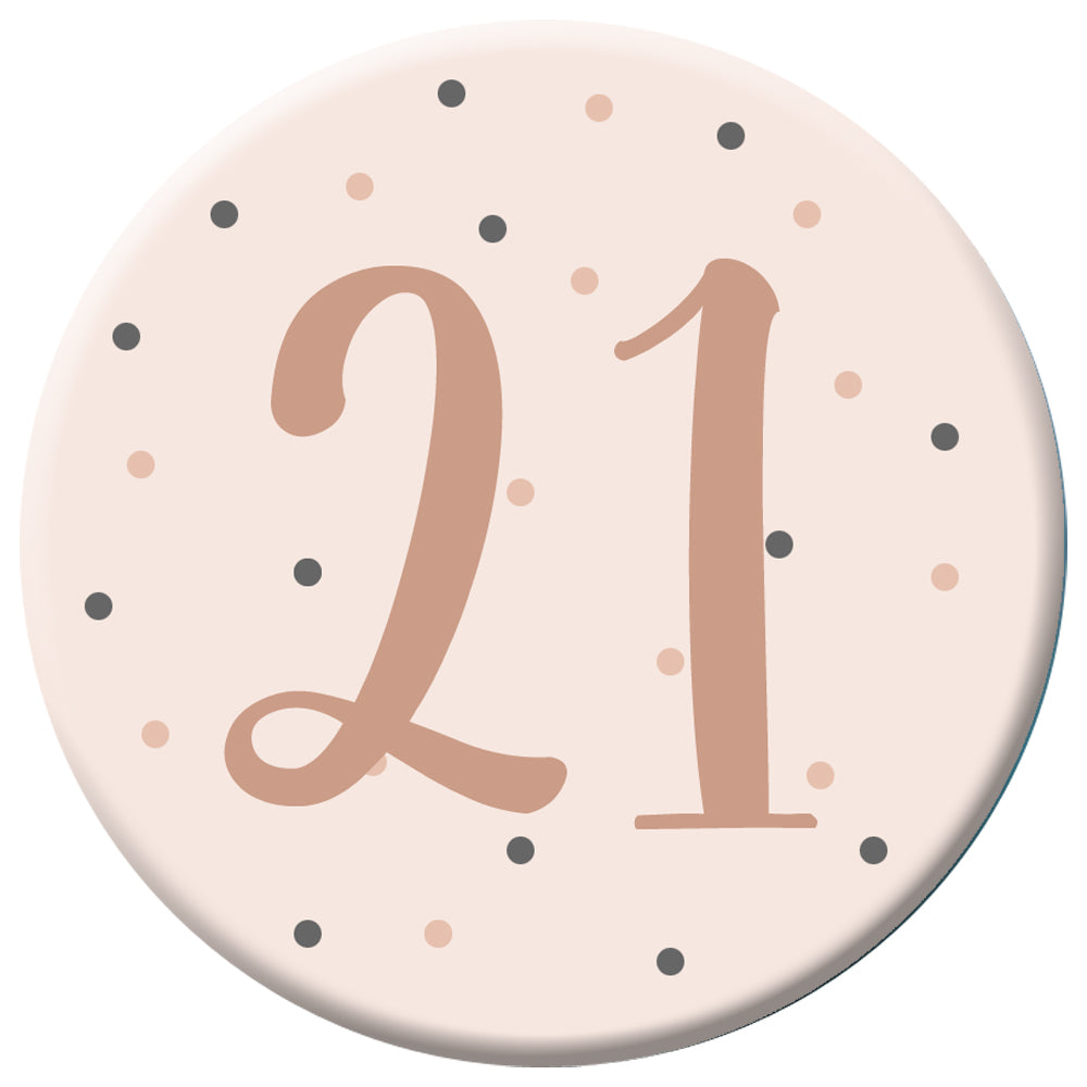 Personalised Badge 58mm - Sweet Rose Gold