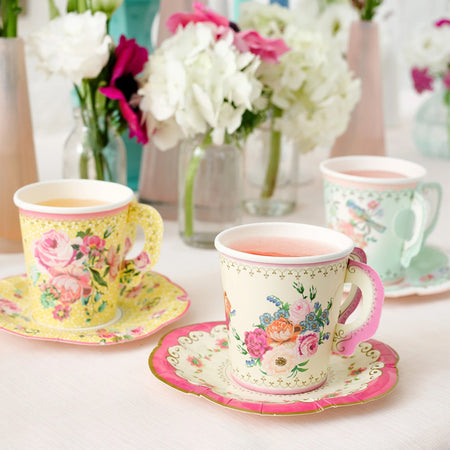 Truly Scrumptious Cup and Saucers - 170ml - Pack of 12