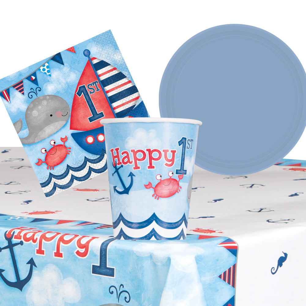 Nautical First Birthday Party Pack For 8