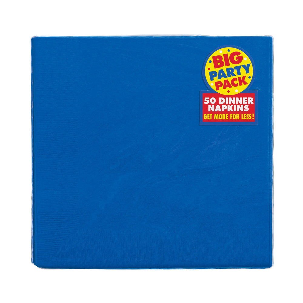 Blue Dinner Napkins 40cm - Pack of 50
