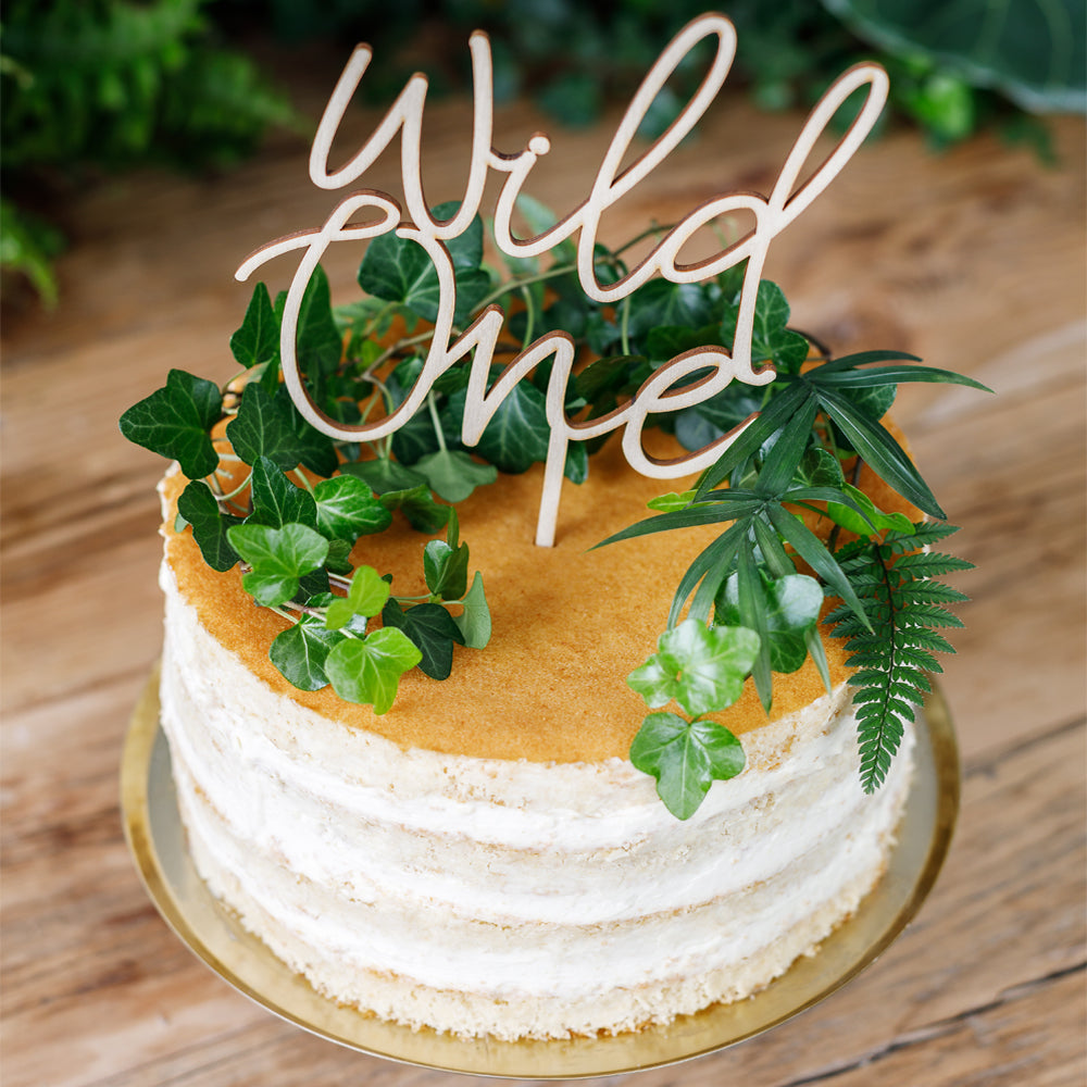 Wild One Wooden Cake Topper - 22cm
