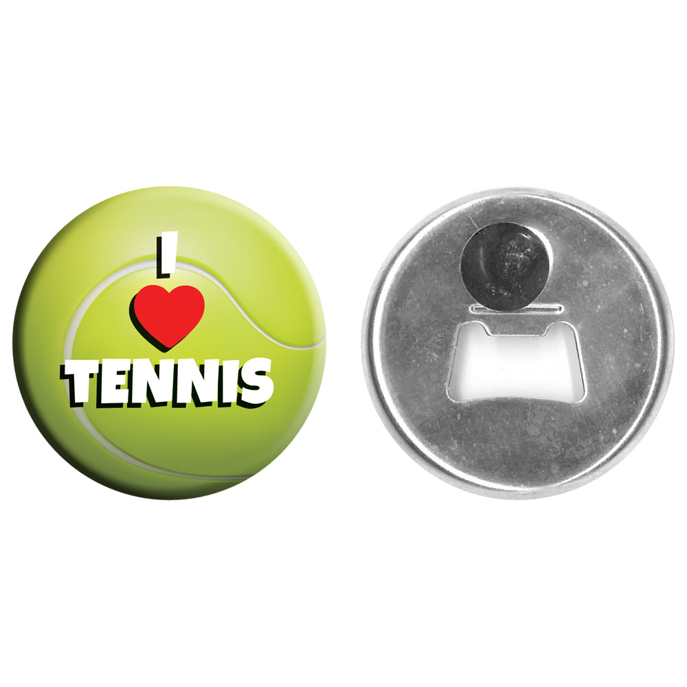 Bottle Opener Magnet - 58mm - I Love Tennis Wimbledon