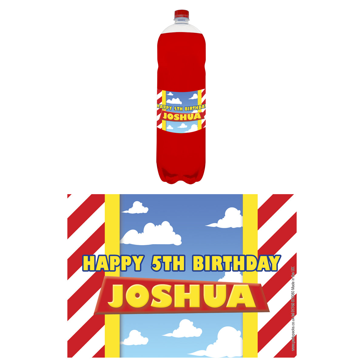 Personalised Bottle Labels - Toy Story - Pack of 4