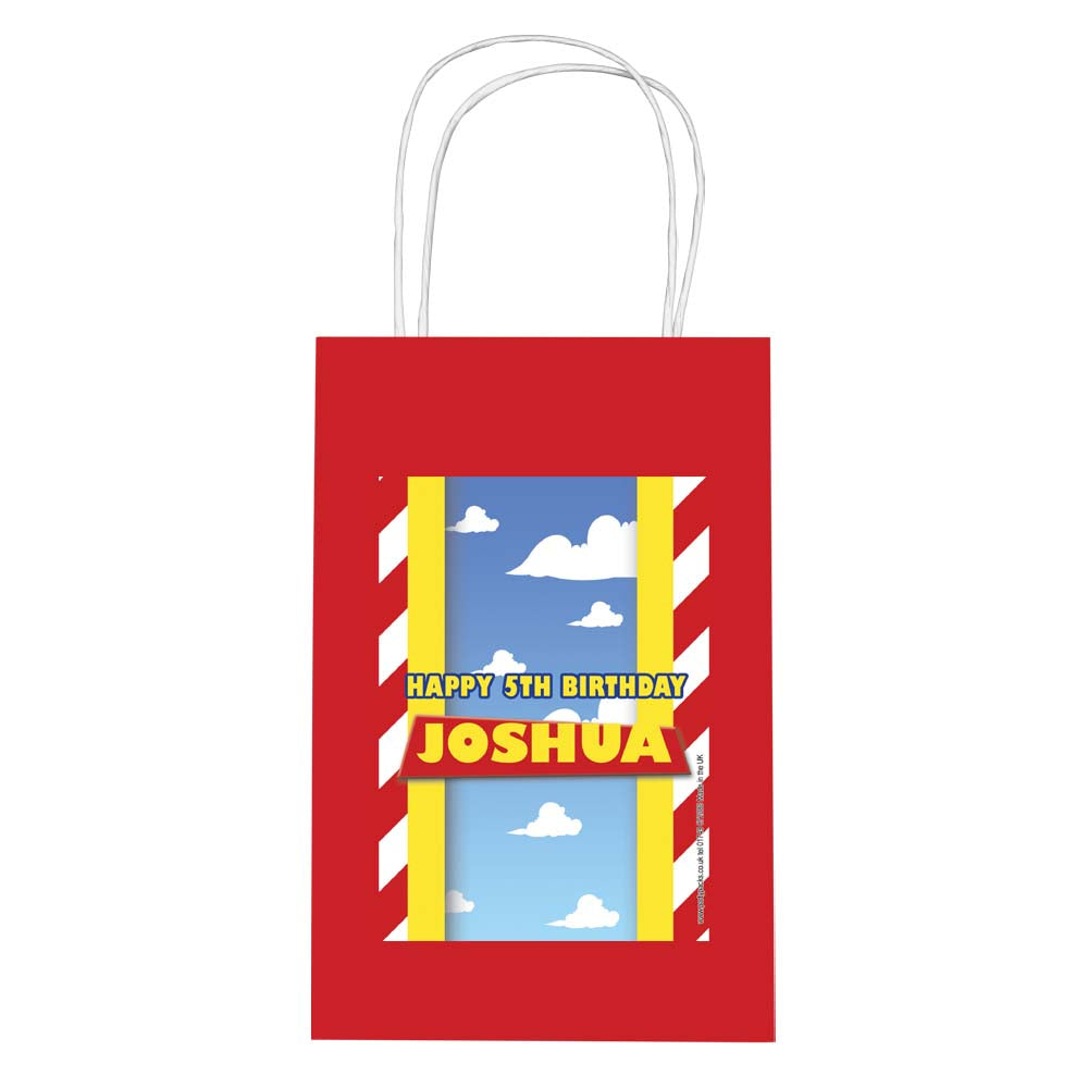 Personalised Toy Story Paper Party Bags - Pack of 12