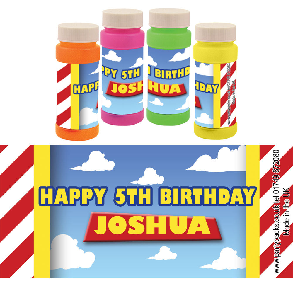 Personalised Bubbles - Toy Story - Pack of 6