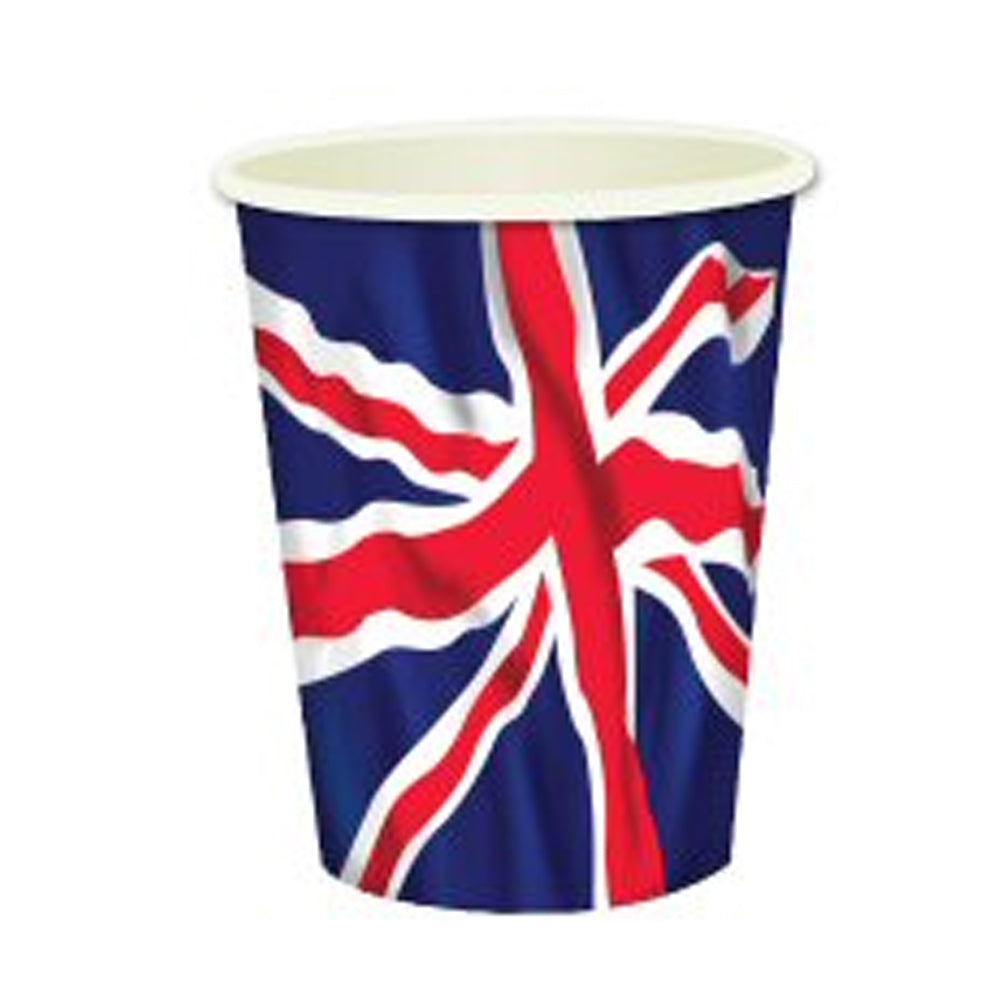 Union Jack Cups - 256ml - Pack of 8