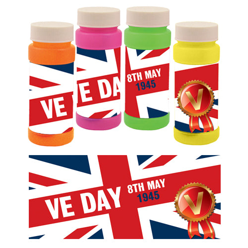 VE Day Bubbles - Pack of 6