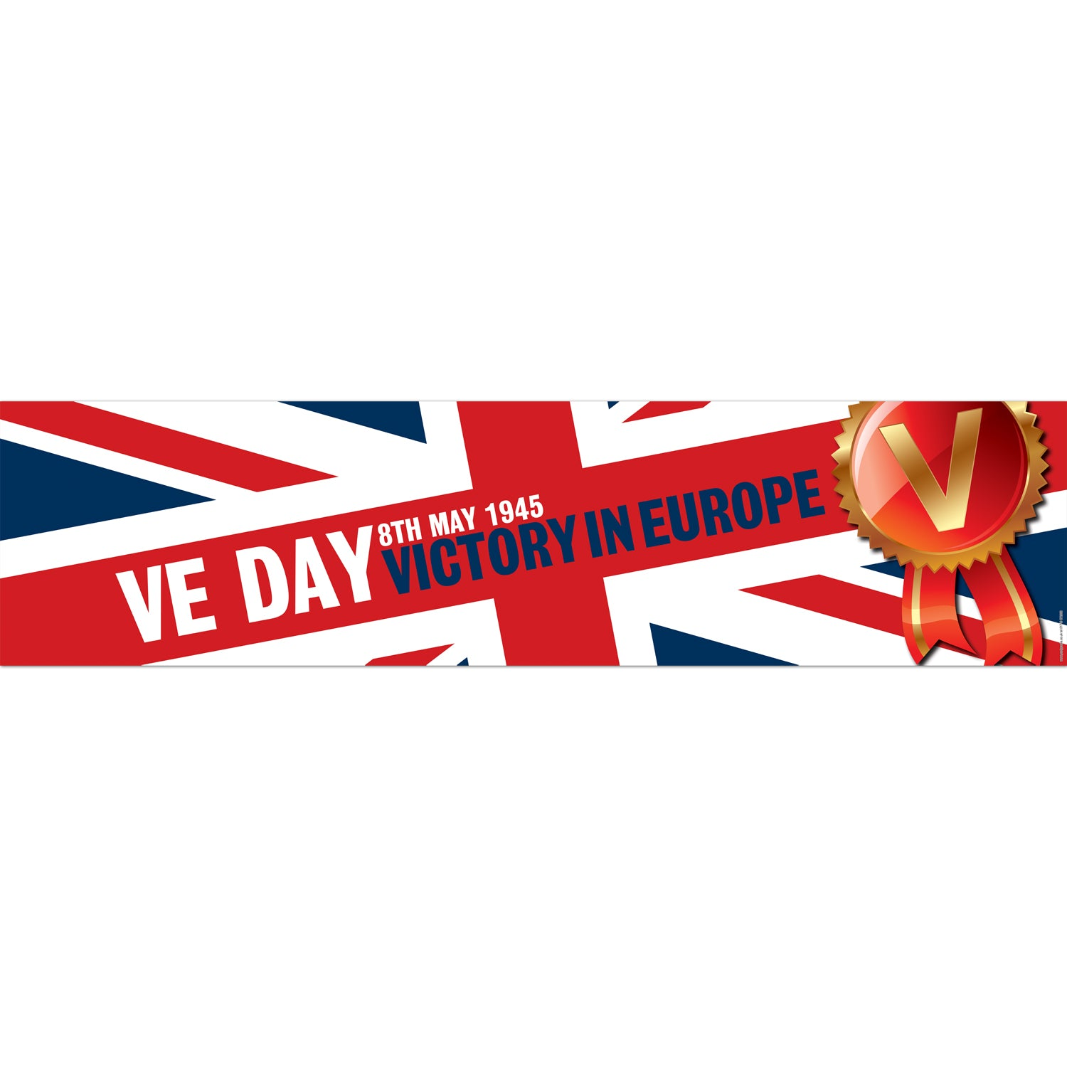 VE Day Union Jack Banner Decoration - 1.2m