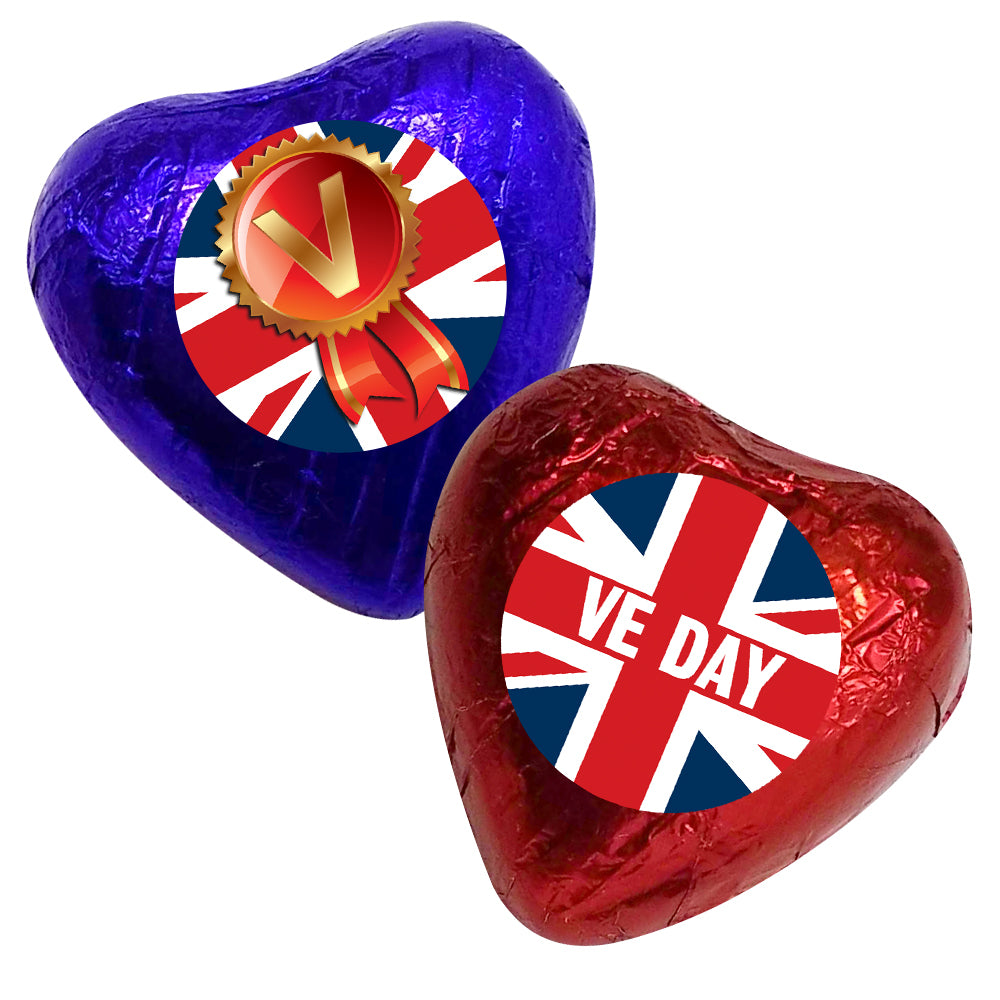 VE Day Heart Chocolates Kit - Pack 24