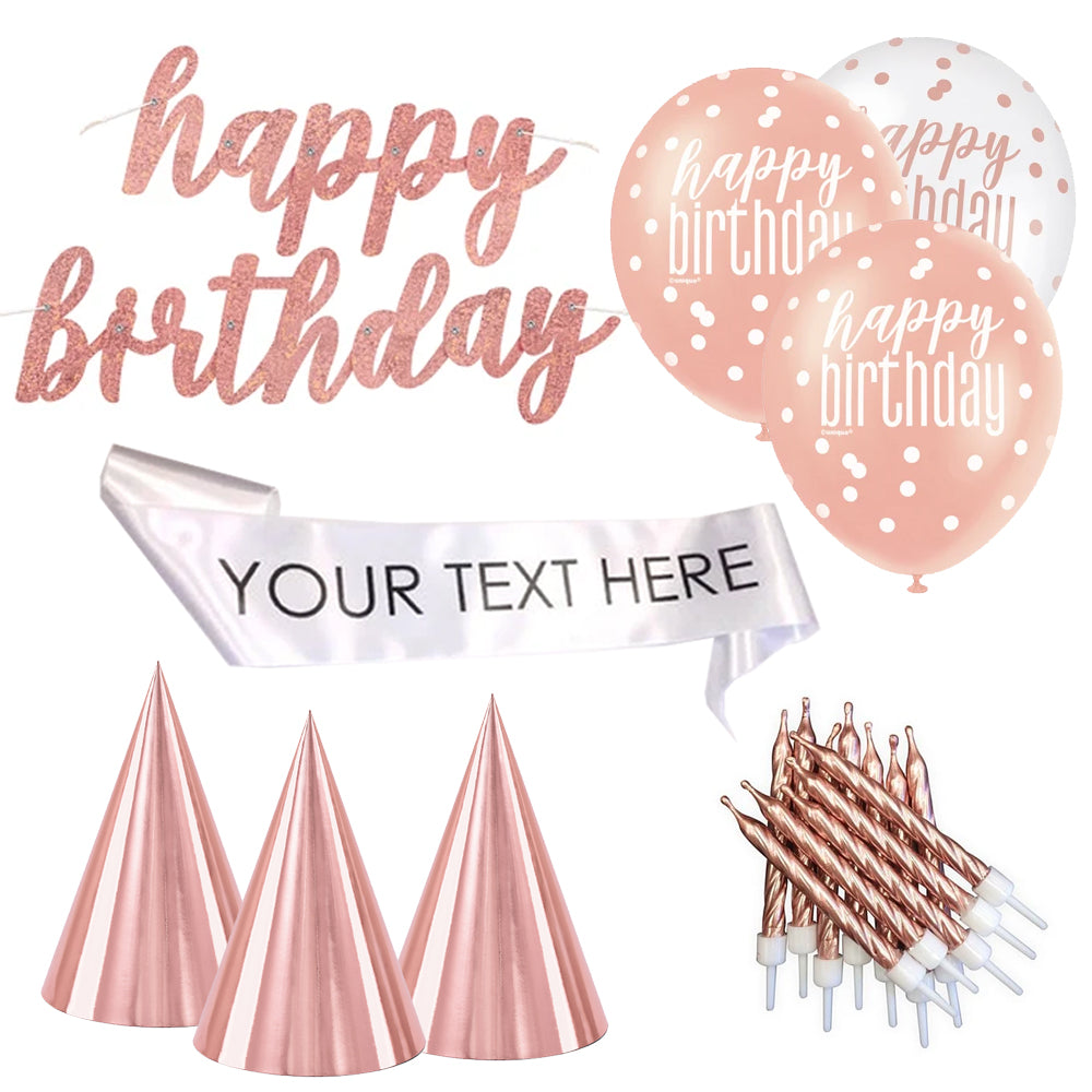 Virtual Birthday Party Pack Rose Gold - Personalised