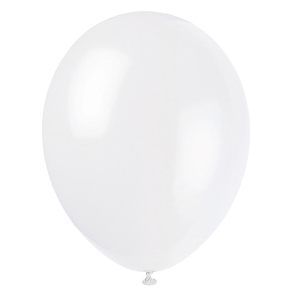 White Latex Balloons - 12""