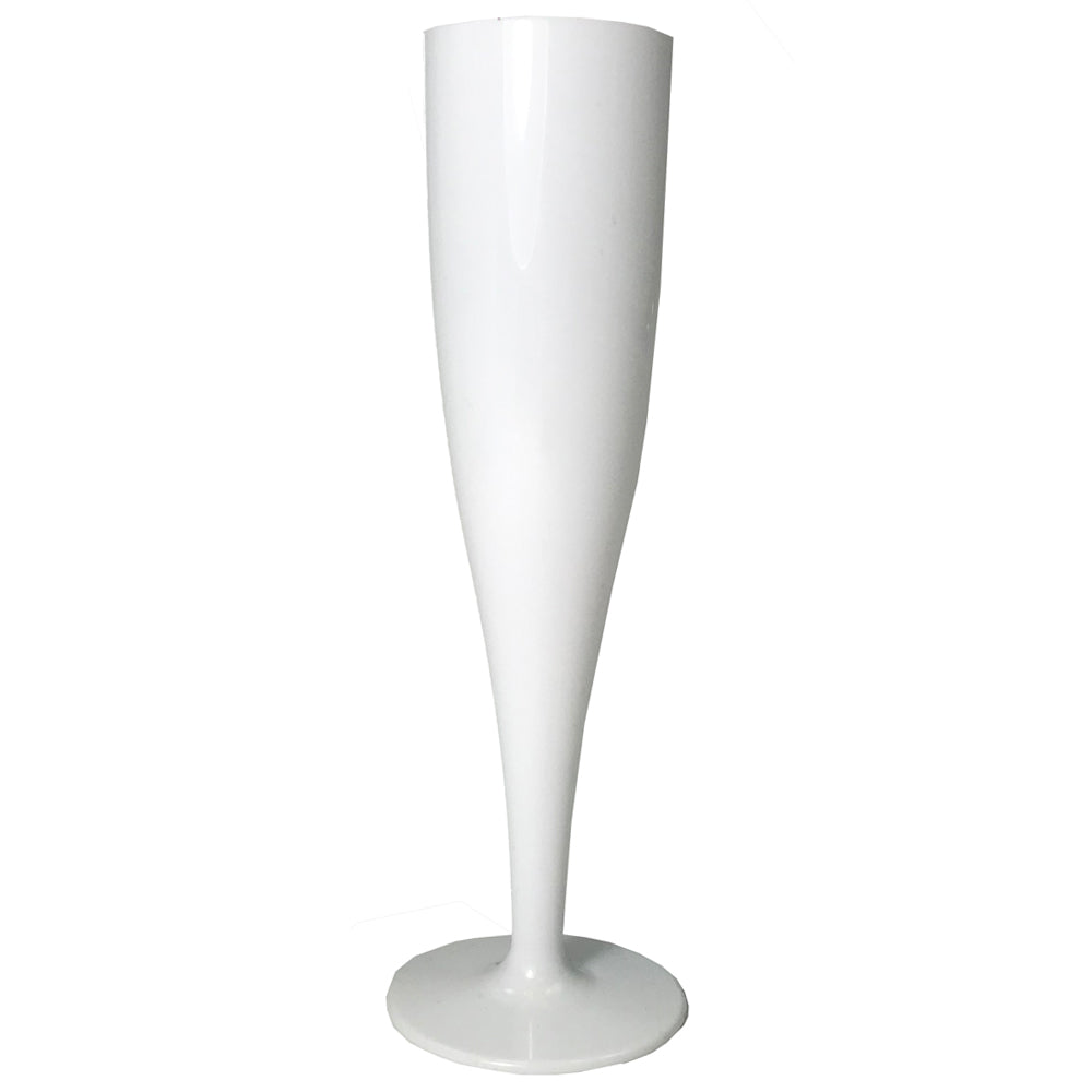 White Champagne & Prosecco Biodegradable Flute Glass - 175ml - Each