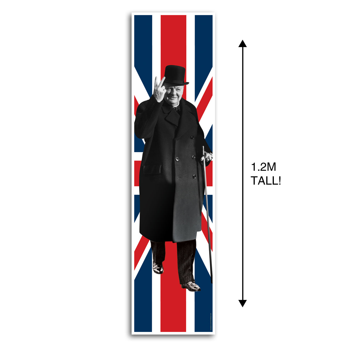 Winston Churchill Union Jack Portrait Wall & Door Banner Decoration - 1.2m