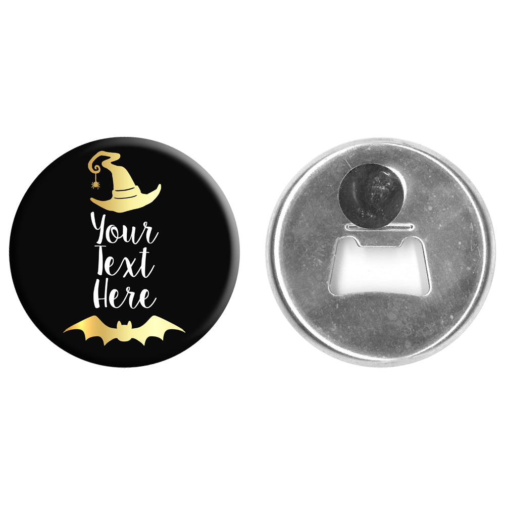 Personalised Bottle Opener Magnet - 58mm - Witch Please