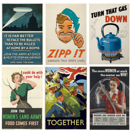 World War II Propaganda Posters - A3 - Set of 6