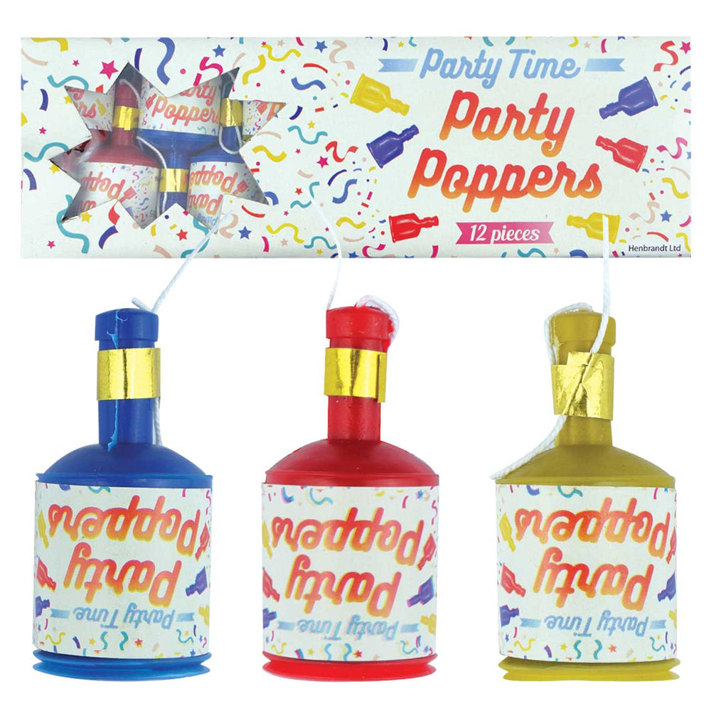Party Poppers - Pack of 12