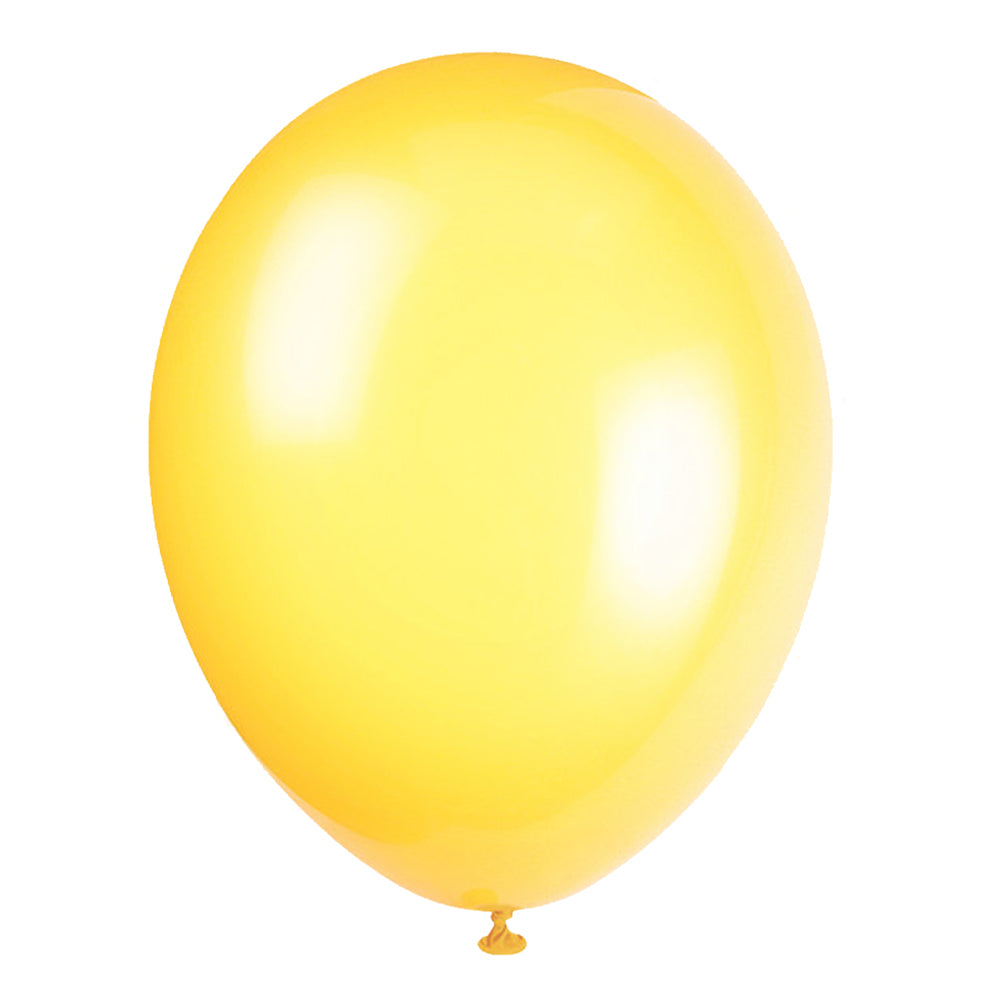 Yellow Latex Balloons - 12""