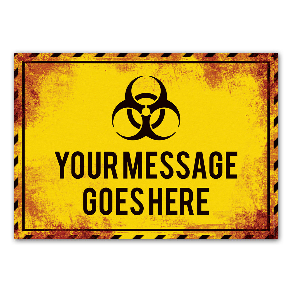 Biohazard Pandemic Sign Halloween Personalised Poster Decoration - A3