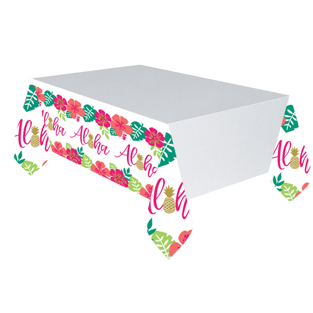 Aloha Tropical Paper Tablecloth - 1.4m x 2.8m