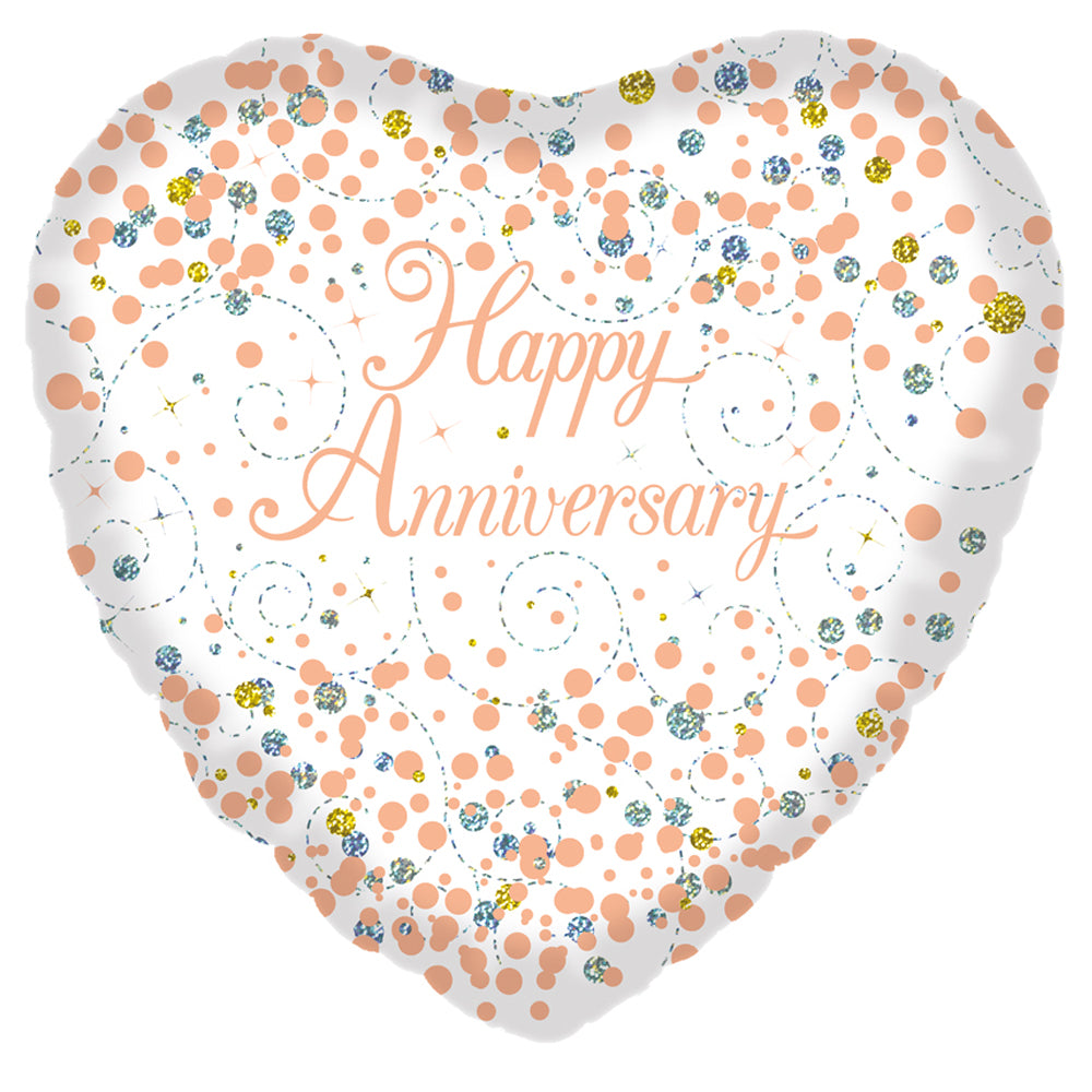 Happy Anniversary Rose Gold Foil Balloon - 18""