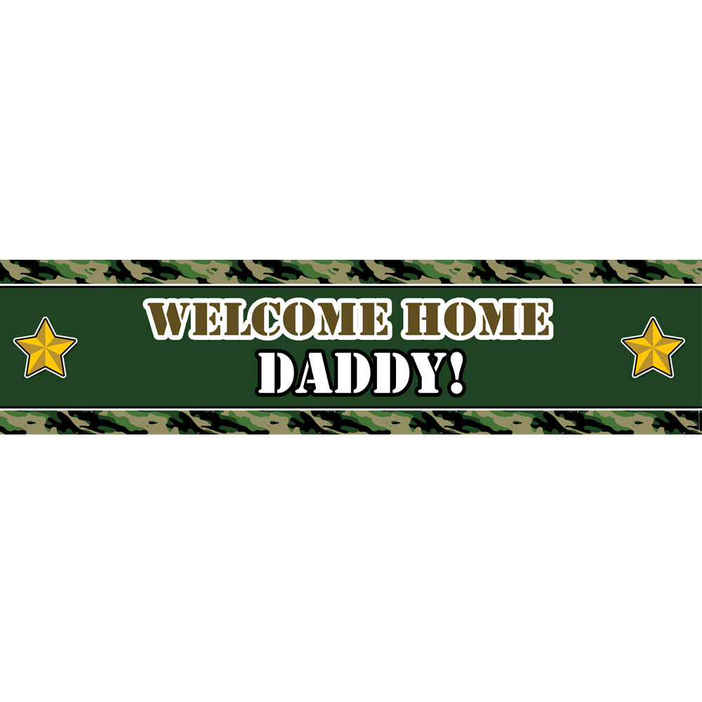 Army Camo Personalised Banner - 1.2m