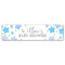 Blue Ombre Stars Baby Shower Personalised Banner - 1.2m