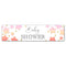 Pink Ombre Stars Baby Shower Banner Decoration