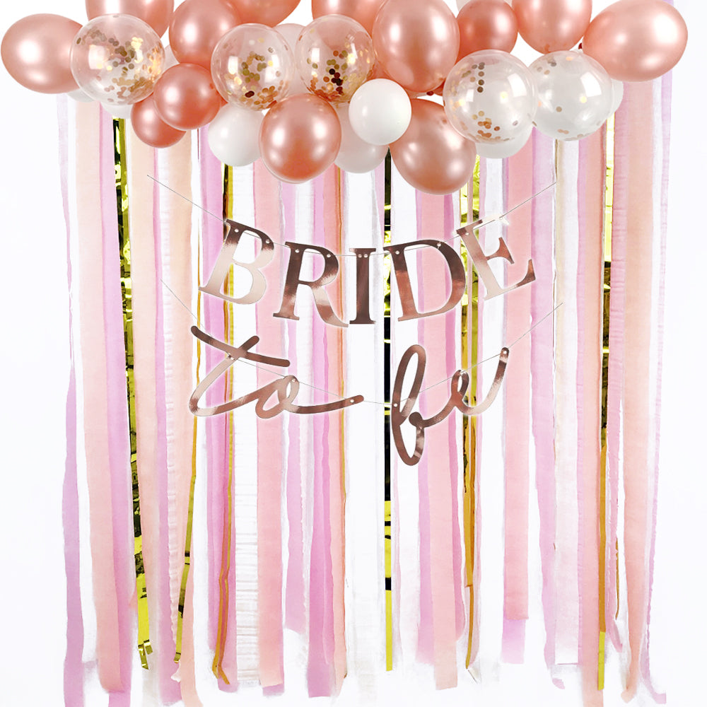 Rose Gold Hen Party Backdrop Kit