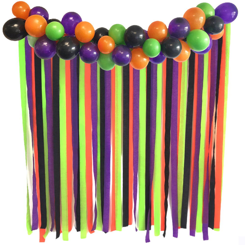 Halloween Backdrop Kit With Balloon Arch
