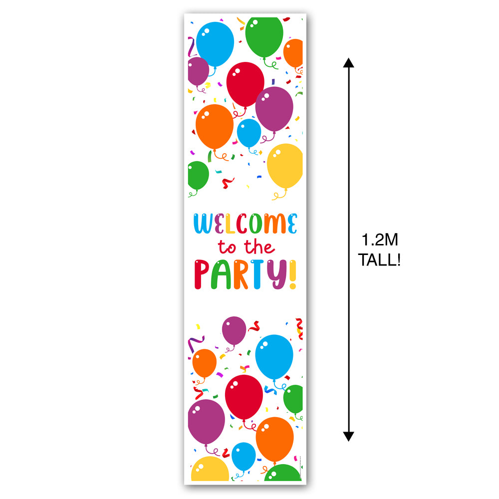Birthday Balloons Portrait Wall & Door Banner Decoration - 1.2m